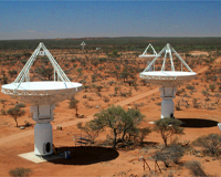 Some of the new ASKAP antennas.