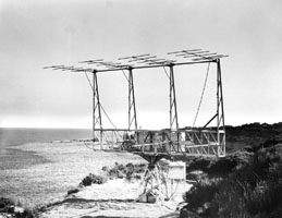 Photo:    An 8-element Yagi antenna,    built in 1951