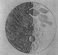 A lunar drawing by Galileo
