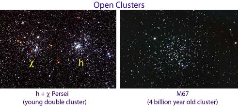 The double open cluster h and χ Persei.