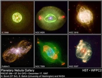 A gallery of planetary nebulae taken bny the HST.