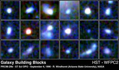 Galaxy Building Blocks (HST image)
