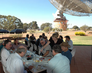Participants from the 2005 workshop enjoying a fine lunch by The Dish.