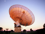 The Parkes radio telescope at dawn