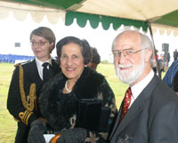 Photo: Professor Marie Bashir and Professor Ron Ekers at Dover Heights