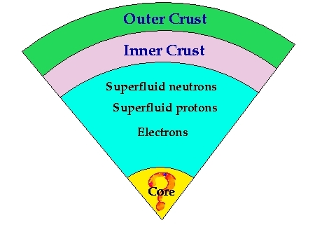 The interior structure of a neutron star