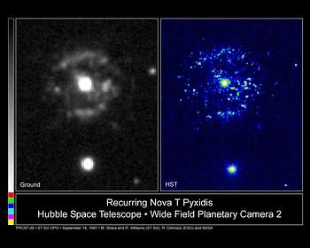 Ground and HST images of the nova T Pyxidis.