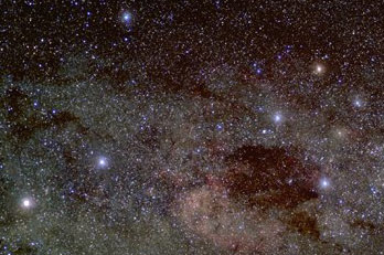 Star field photo of region around Crux