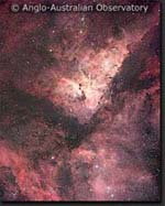 Photo of Eta Carinae, an HII region