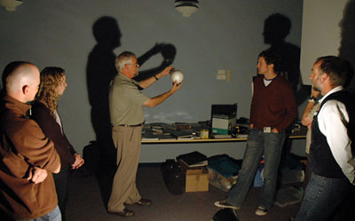 Participants from the 2007 workshop modelling Earth-Moon interactions.