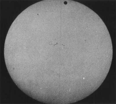 Photograph of 1874 Transit of Venus from Tasmania
