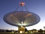 The Parkes radio telescope at dusk
