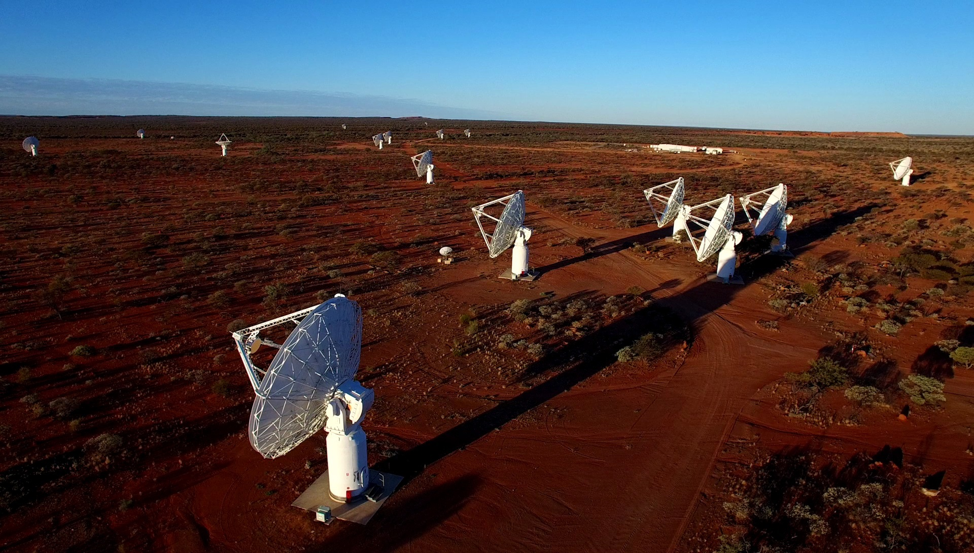CSIRO's new ASKAP antennas at the Murchison Radio-astronomy Observatory. Credit: CSIRO