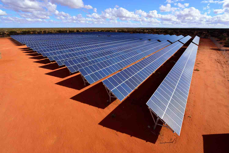 EMC Solar Farm under construction