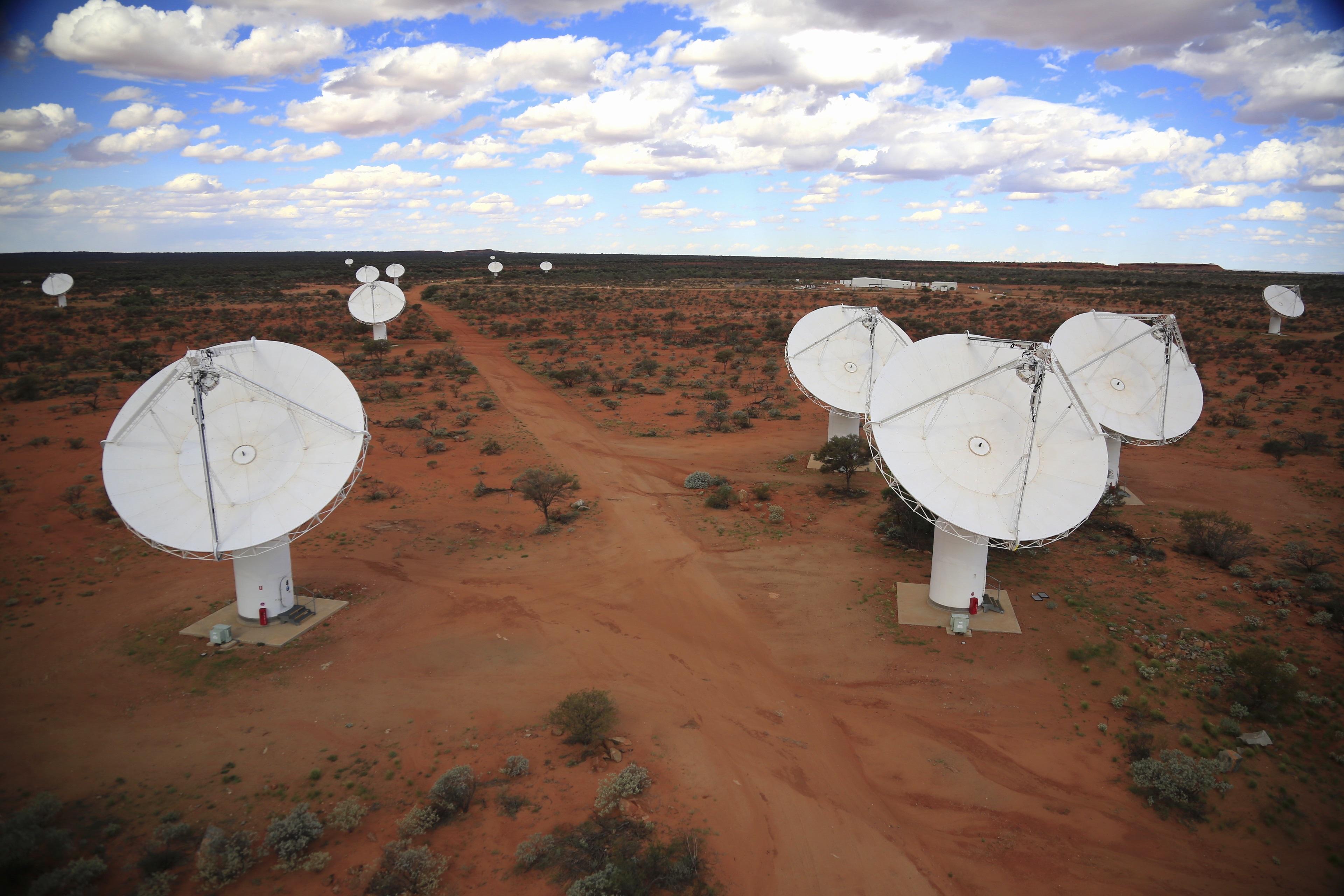 CSIRO's Australian Square Kilometre Array Pathfinder (ASKAP) telescope - credit CSIRO