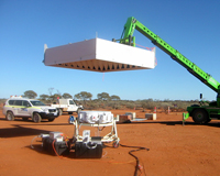 The Mk II PAF, underground ground-based apeture array tests at the MRO. Credit: CSIRO