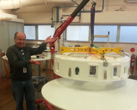 Pre-production of the Mk II PAF underway at the Sydney headquarters of CSIRO Astronomy and Space Science. Credit: CSIRO
