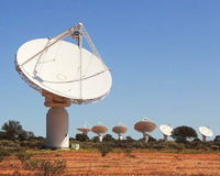 CSIRO's ASKAP antennas at the MRO.