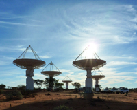 A photo of ASKAP antennas at the MRO. Credit: CSIRO