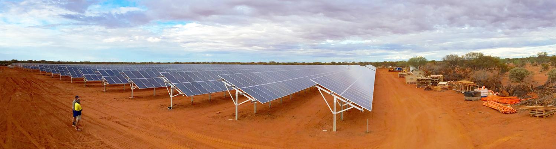 Solar panel installation.
