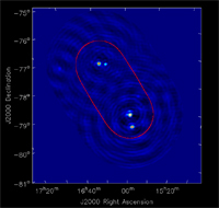 The first multi-beam test image created with three ASKAP antennas at the MRO.