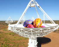 A photo of ASKAP with Easter eggs.