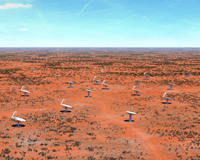 Artist's impression of dishes that will make up the Square Kilometre Array (SKA) radio telescope. Credit: Swinburne Astronomy Productions/SKA Organisation.