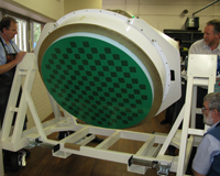 The first full-sized Phased Array Feed assembled for CSIRO's ASKAP antennas. Credit: Russ Bolton, CSIRO.