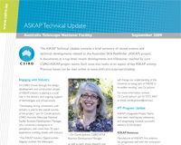 ASKAP Technical Update is a quarterly publication that provides a brief summary of recent science and technical developments related to ASKAP.